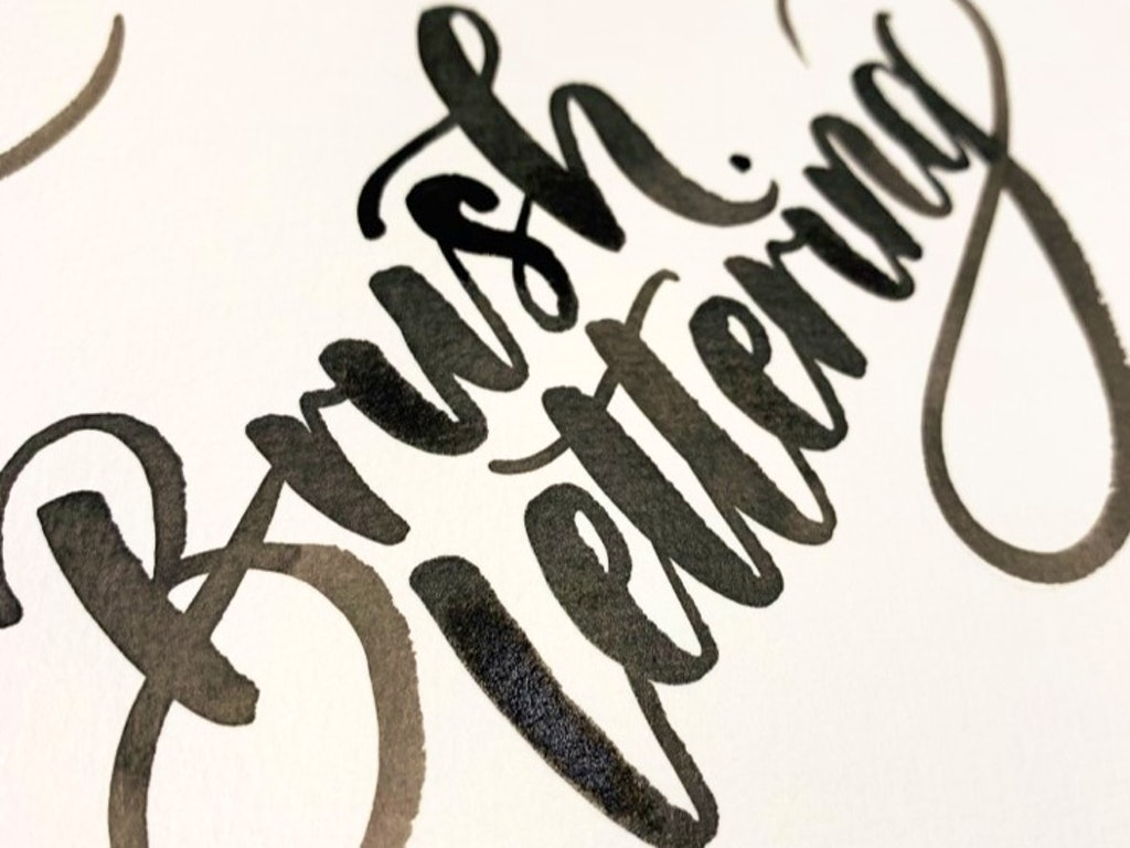 Brush Lettering by Genelly