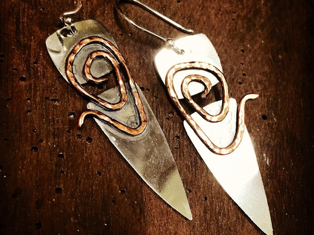 Two toned Earrings 02