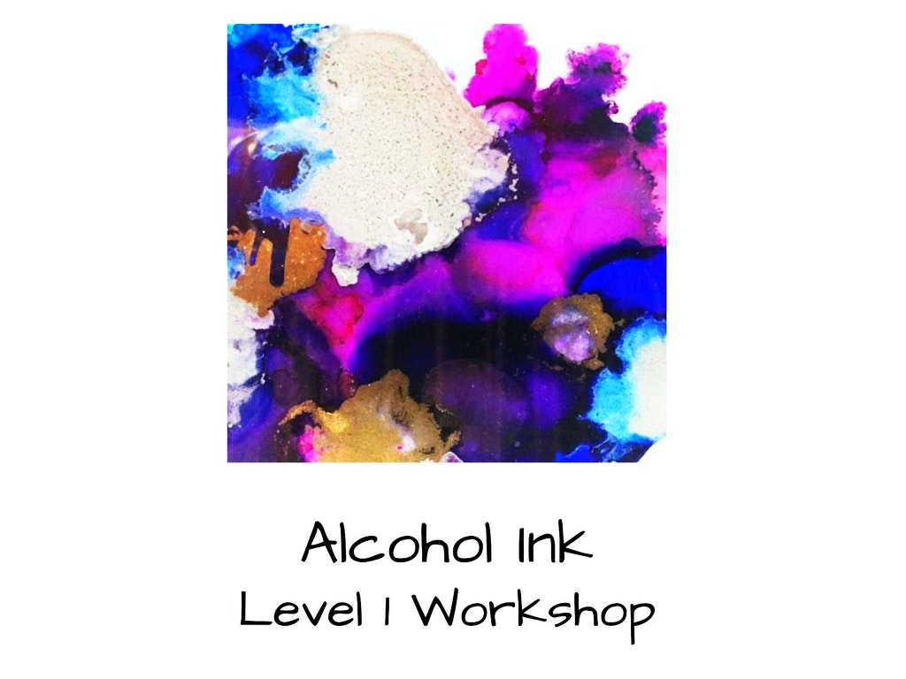 alcohol ink pin and blue