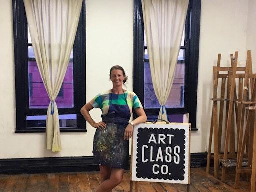 Jacqui Stockdale at her studio