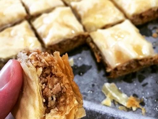 Jessica Pedemont's filo pastry class