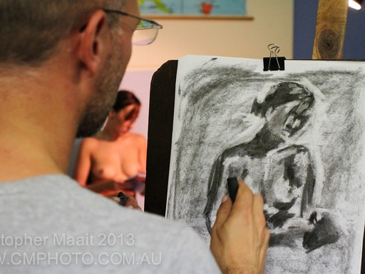 Life drawing sessions are often quick, so consider your first instinct strokes to be always correct. Erasing takes away valuable time that could be better spent drawing.