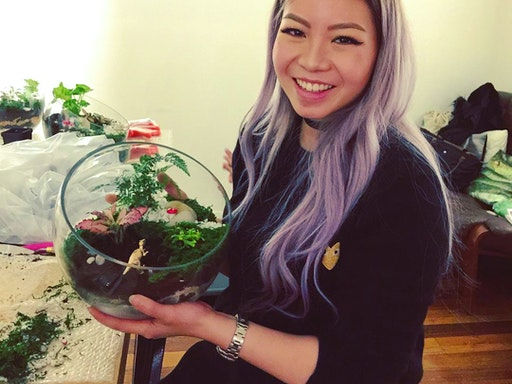 Intro To Terrariums Workshop at The Best School in the World