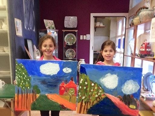 Acrylic Painting Workshop On Canvas at Tennyson Studio