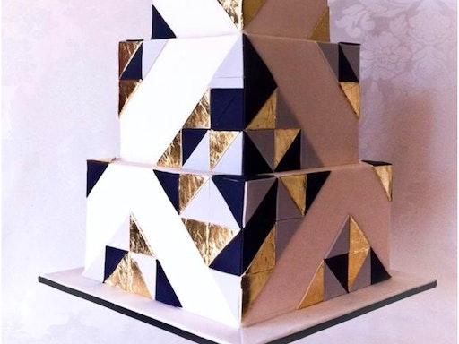 Geometric Basic Square Cake Class by Bake Boss (Photo Credit: Pinterest)