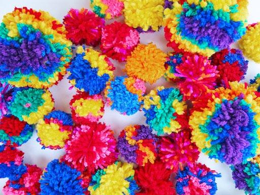 Make Magic Pompoms at Kin & Kind (Photo Via Babble Dabble Do)