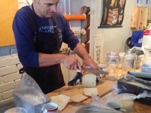 Sourdough making workshop at Bee Sustainable