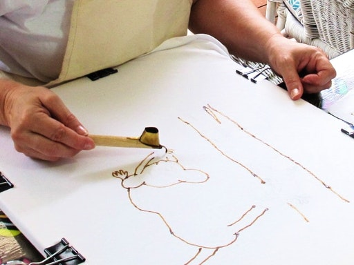 Intro to Batik Painting at Work-Shop