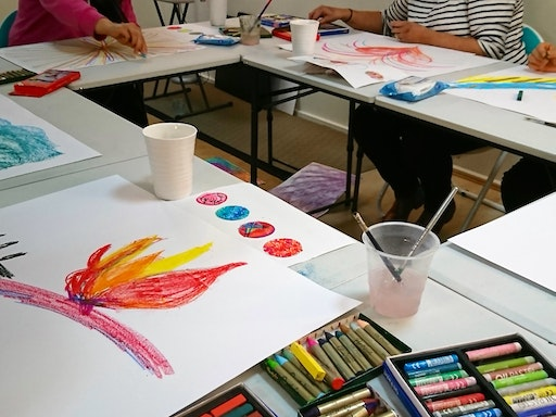 Art therapy does not require any artistic skills because the focus is on the process, not the final product.