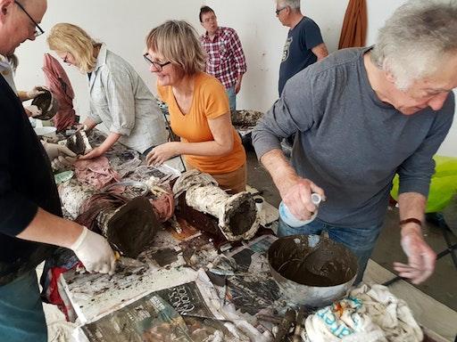 A sculpture workshop at the Quadrant Gallery