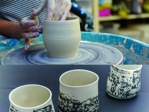 Ceramics courses at Clay Talk are available in vessel forming and hand building