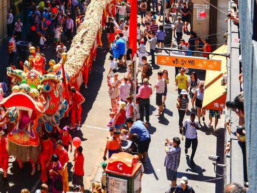 Chinese New Year in Chinatown Melbourne (Photo Credit: Concrete Playground)