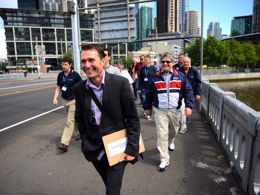 Allan leading one of the tours (Photo Credit: Big4)